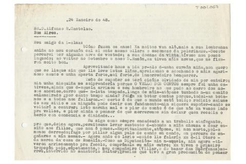 Carta de Mosquera a Castelao