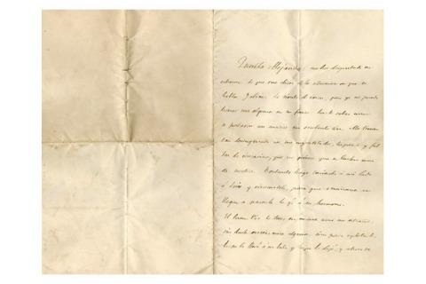 Carta de Murguía á súa filla Alejandra