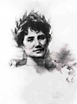 Retrato de Rosalía por Josep María Fenollera. (c.a. 1888).