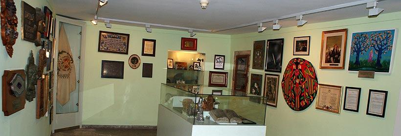Sala con placas