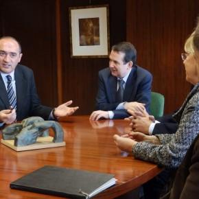 Anxo Angueira, Abel Caballero e Pepe Barro.